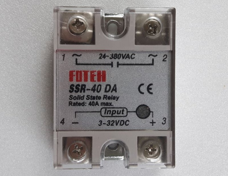 Solid State Relay 40A mit Isolierkappe